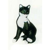 Katze sitzend schwarz weiß