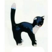 Katze mit Buckel schwarz weiß