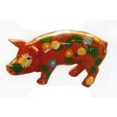 bemaltes Schwein mit Blumen