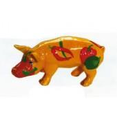 bemaltes Schwein mit Paprika und Chili