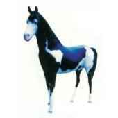 schwarz weißes Pferd lebensgroß