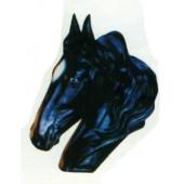 schwarzer Pferdekopf als Büste