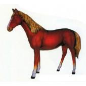 braunes Pferd mit blonder Mähne