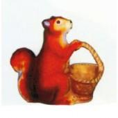 Eichhörnchen mit Körbchen