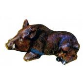 kleiner liegender Keiler Wildschwein