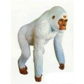 lebensgroßer weißer Gorilla