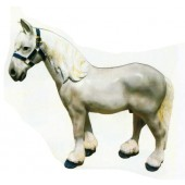 kleines Pferd grau