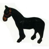 kleines Pferd schwarz