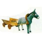 Esel mit Holzwagen