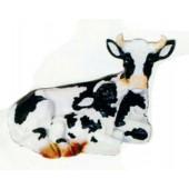 Kuh klein liegend mit Kalb