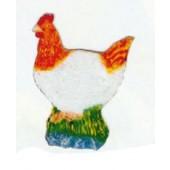 braun weiße Henne