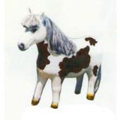 braun weißes Pony mit Echthaar