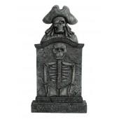 Piratenskelett Grabstein mit Skelett