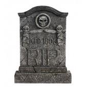 Grabstein mit Totenköpfen RIP