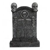 Totenkopf Grabstein mit Totenköpfen RIP