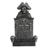 Piratenskelett und Totenköpfe Grabstein mit Totenköpfen RIP Died