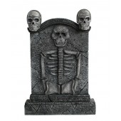 Totenkopf Grabstein mit Skelett