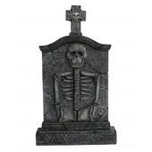 Kreuz Grabstein mit Skelett