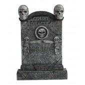 Totenkopf Grabstein Graf Dracula