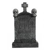 Totenkopf und Kreuz Grabstein Graf Dracula