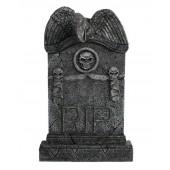 Geier Grabstein mit Totenköpfen