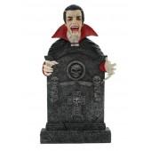 Dracula Grabstein mit Totenköpfen und Kreuz