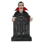 Dracula Grabstein mit Skelett