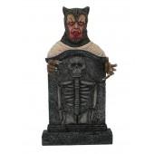 Werwolf Grabstein mit Skelett