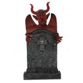 Teufel Grabstein mit Kreuz