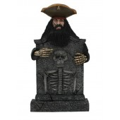 Pirat Blackbeard Grabstein mit Skelett