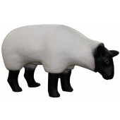 Schaf stilisiert fressend