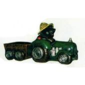 Maulwurf auf Traktor mit Anhänger klein