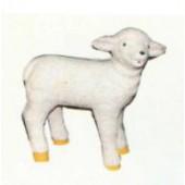 kleines stehendes Schaf weiß Variante 1