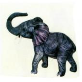 kleiner Elefant mit Rüssel oben