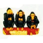 Willkommensschild 3 Affen