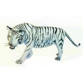 großer weißer Tiger laufend