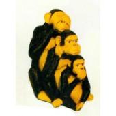 3 Affen sitzend Nichts sehen hören sprechen