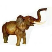 großer stehender Elefant Rüssel oben