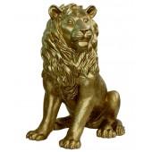 Löwe sitzend Blick links Gold