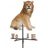 Löwe sitzend Windrichtungsanzeiger