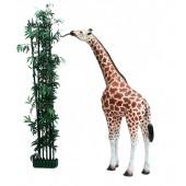 BabyGiraffe stehend und essend
