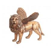 Goldener Löwe mit Flügeln