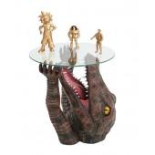 Krokodil Tisch mit Glasplatte