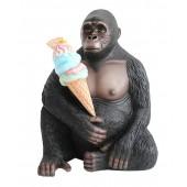 Gorilla mit Eis