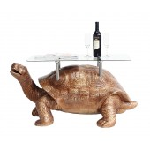 Goldene Schildkröte Tisch mit Glasplatte