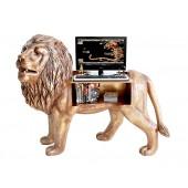 Goldener Löwe Computertisch