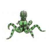 Grüner Oktopus lebensgroß