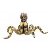 Gelber Oktopus lebensgroß