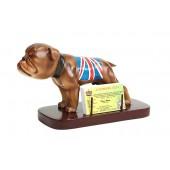 Bulldog mit britischer Flagge Visitenkartenhalter