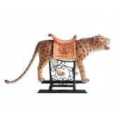 Karussell Leopard mit Sattel